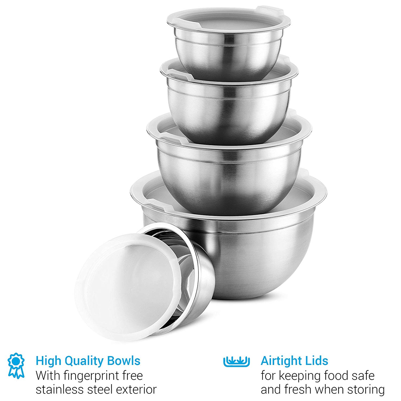 Finedine premium various sizes stainless steel mixing bowl
