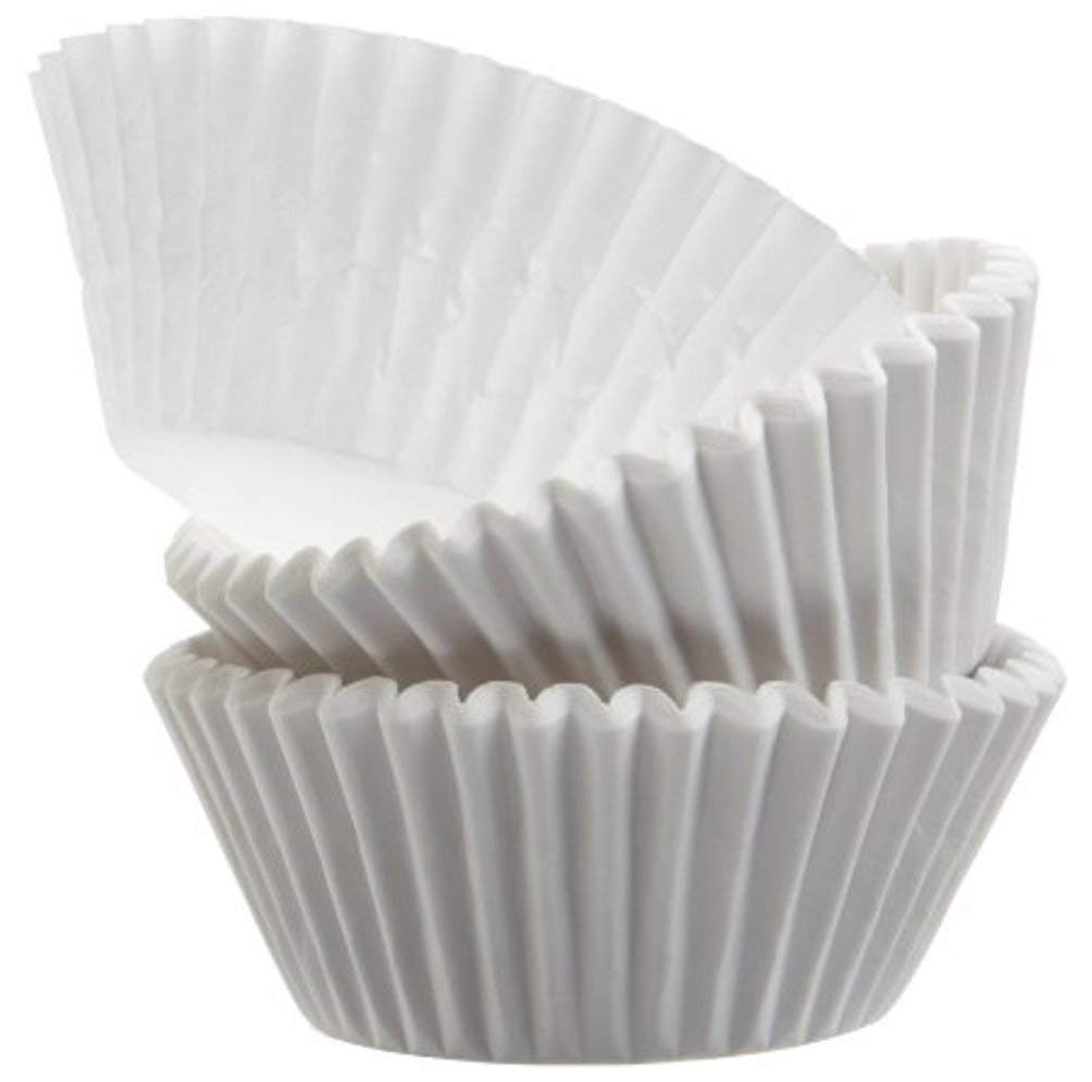 Green direct standard size white cupcake