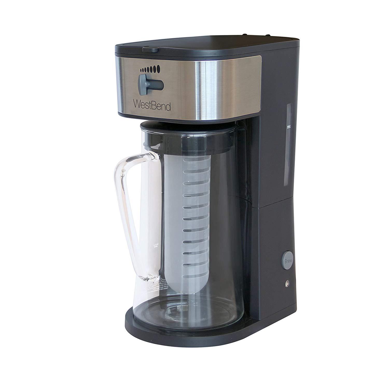West bend it500 convenient 88 oz. gray ice tea maker