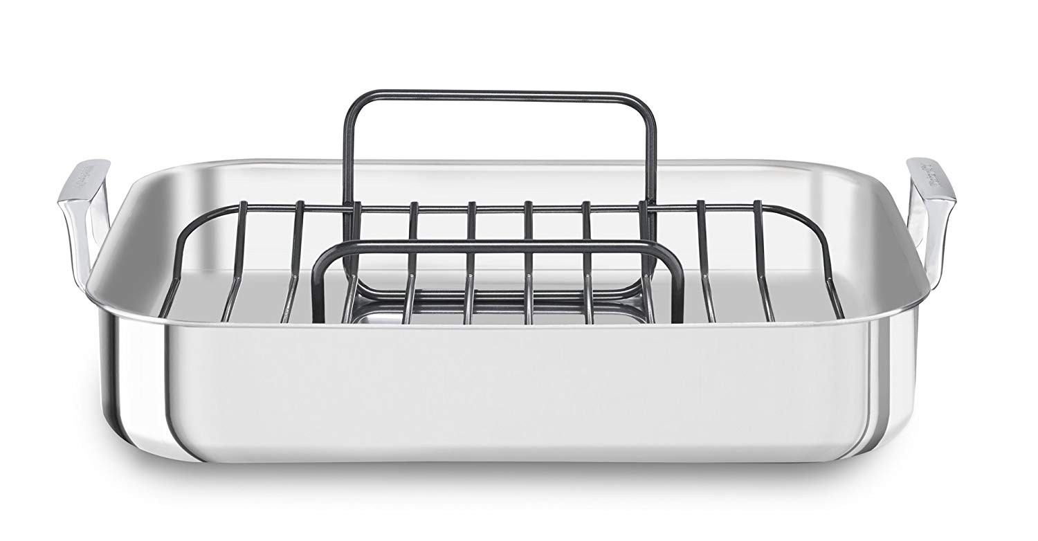 Kitchenaid tri-ply stainless steel roaster with rack