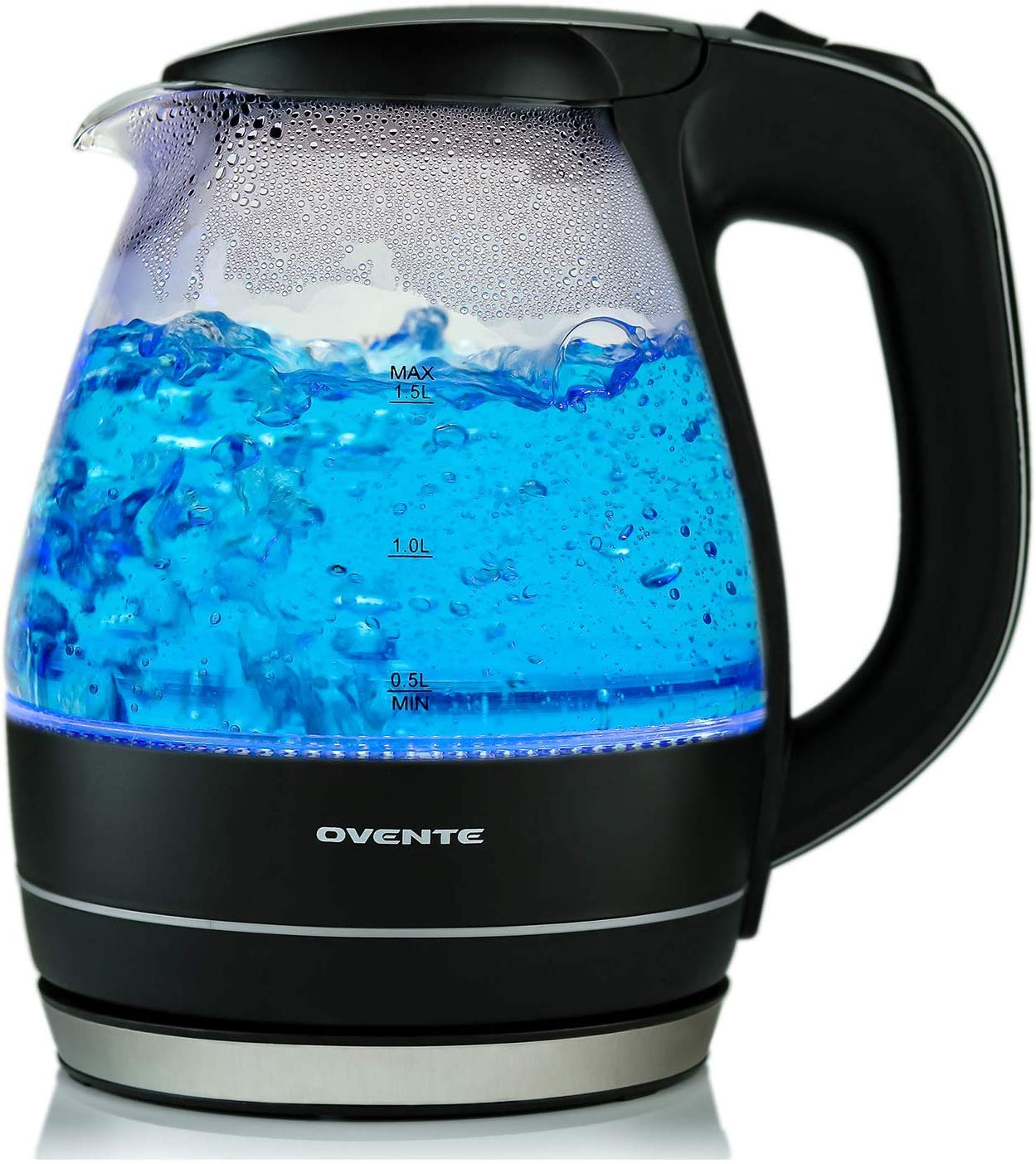 Ovente 1.5 liter glass electric kettle