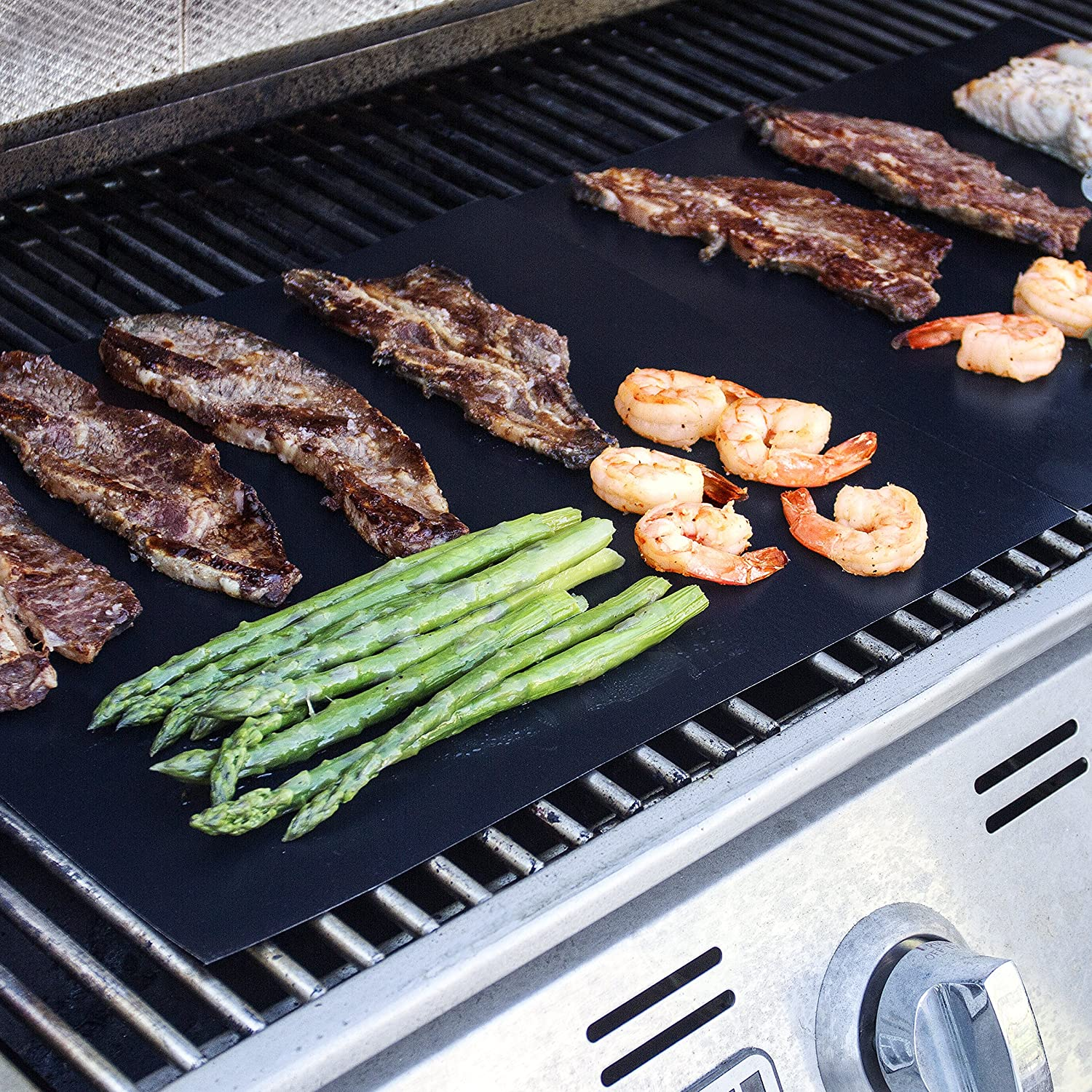 Kitchen + home bbq grill mats