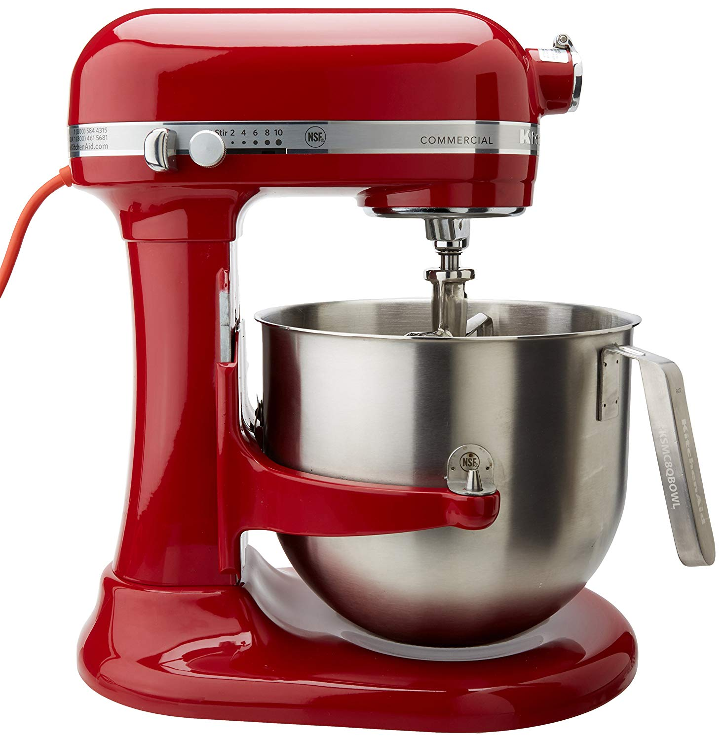 Kitchenaid commercial 8-qt bowl lift nsf stand mixer