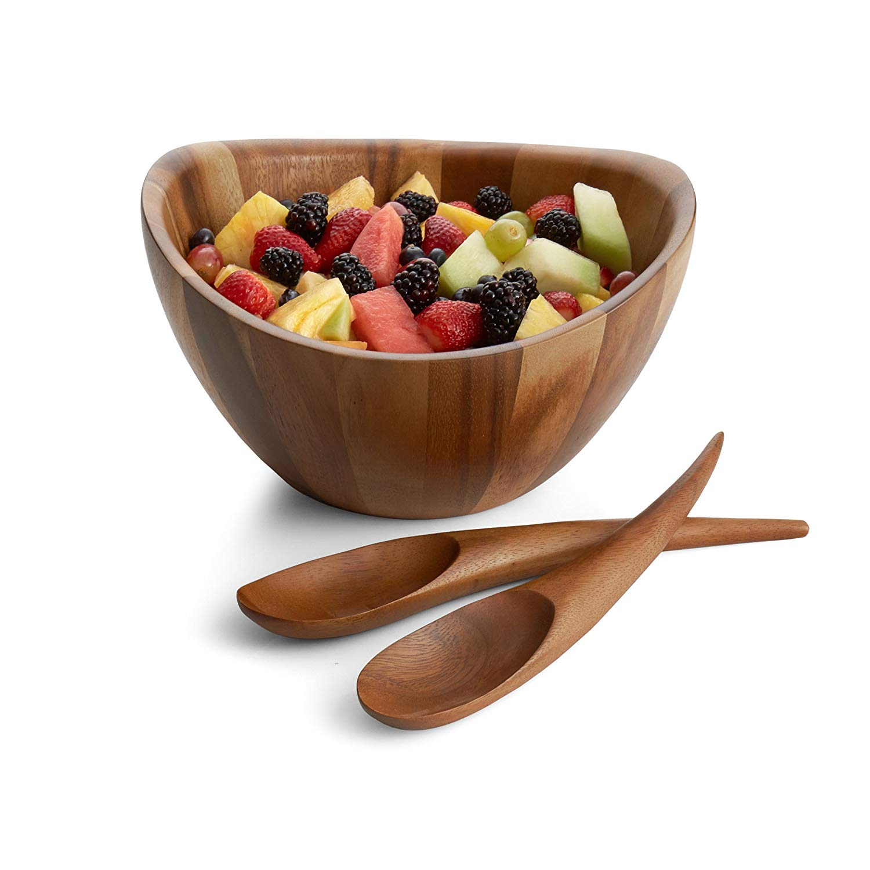 Nambe gourmet harmony wooden salad set