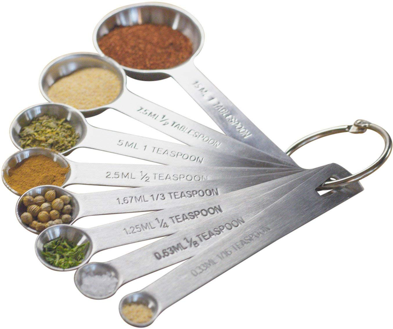 Natizo stainless steel measuring spoons