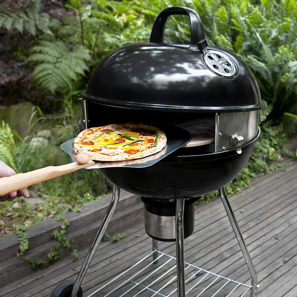 Pizzaque deluxe kettle grill pizza kit for 18? and 22.5? kettle grills