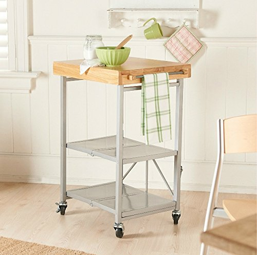 Origami rbt-04 foldable kitchen island cart