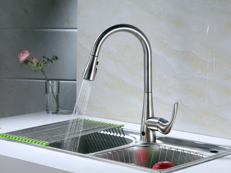 Runfine hands-free kitchen sink faucet