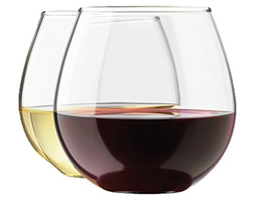 Royal stemless wine glass set, 15-ounce wine tumbler set