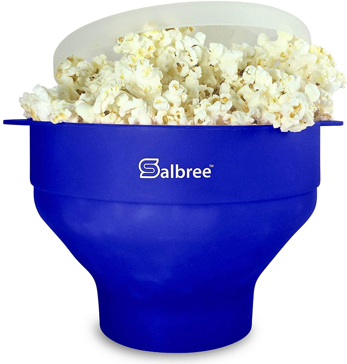 Salbree collapsible silicone microwave hot air popcorn popper bowl