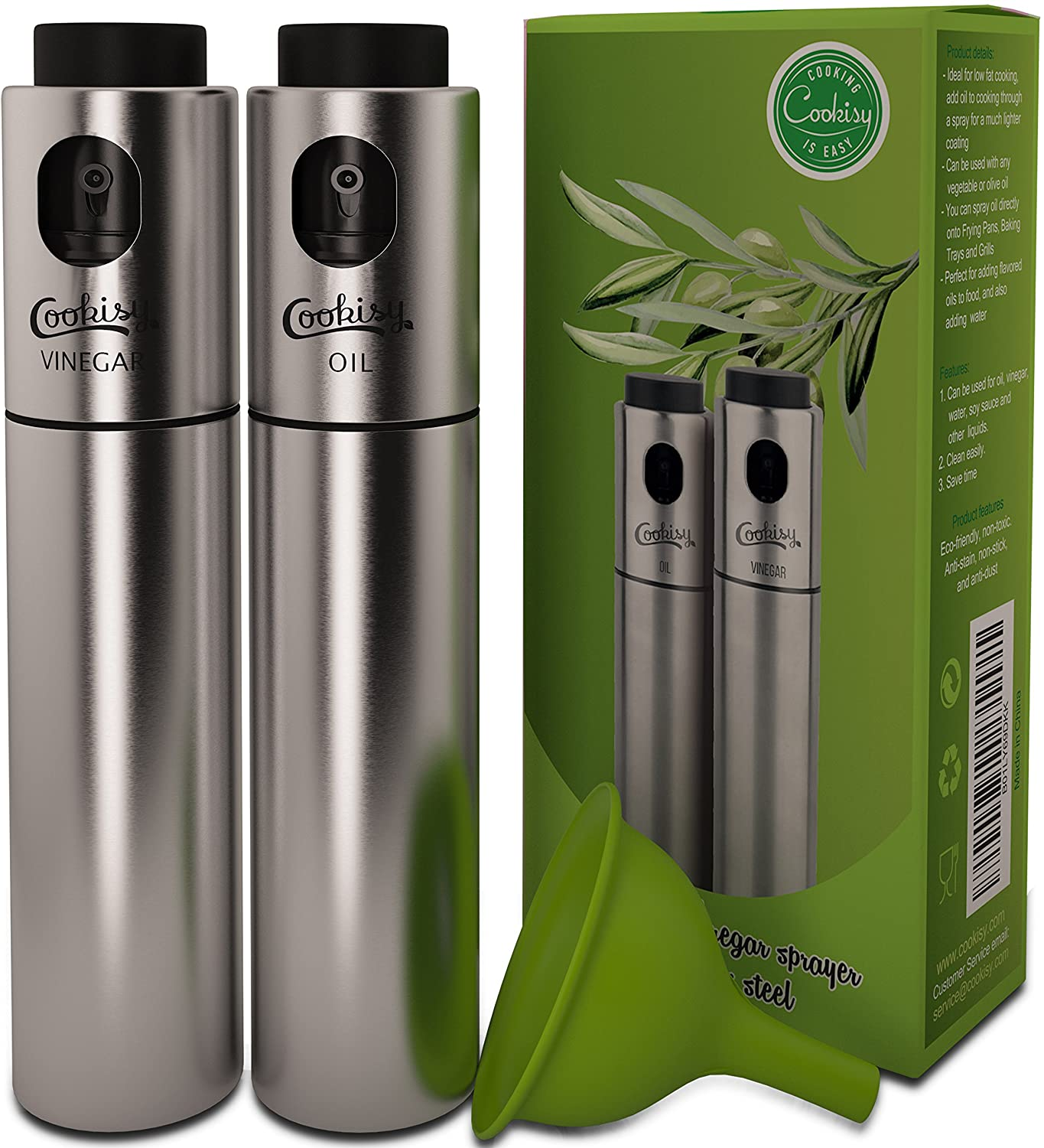 Cookisy olive oil and vinegar sprayer set