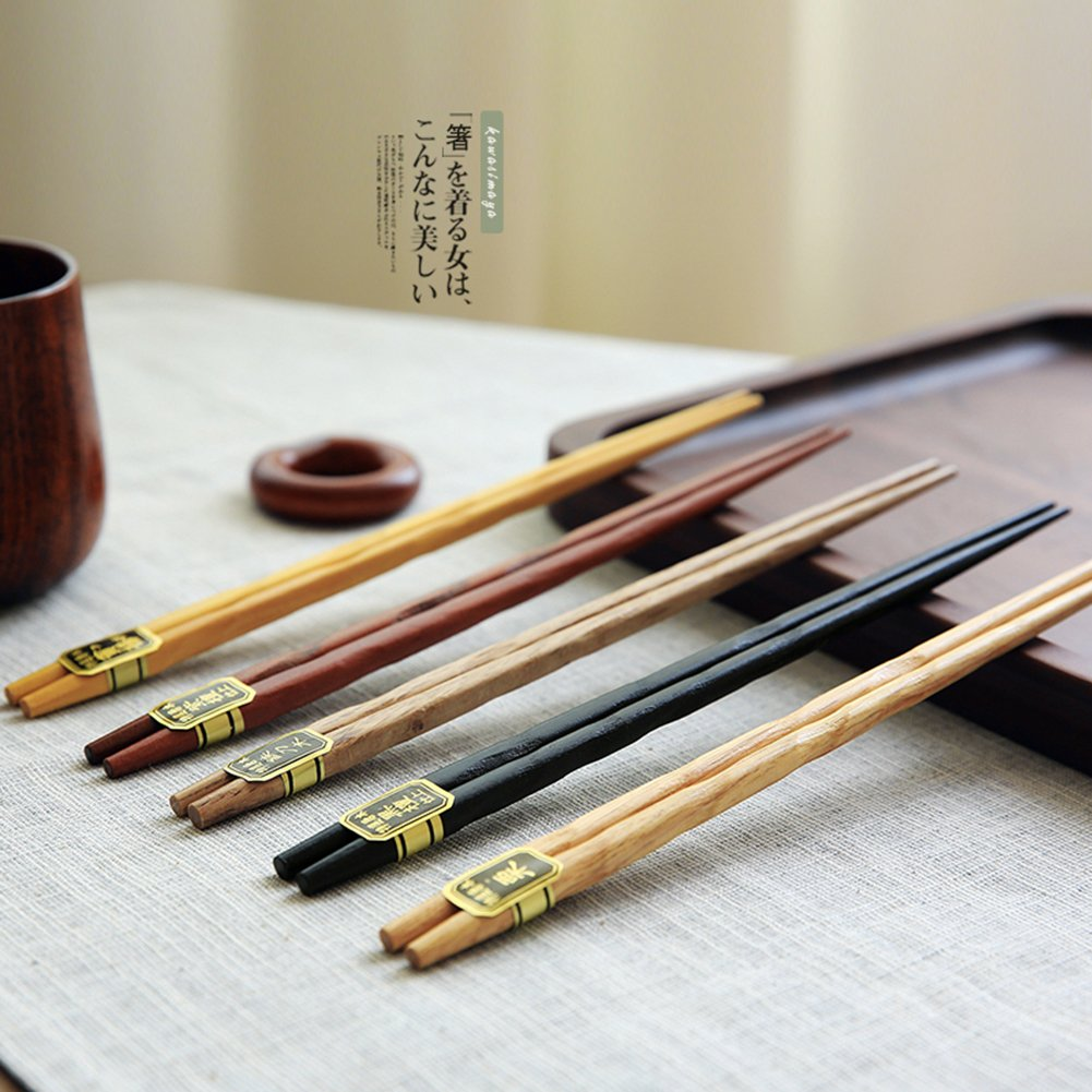 Hualan japanese natural wood chopstick set
