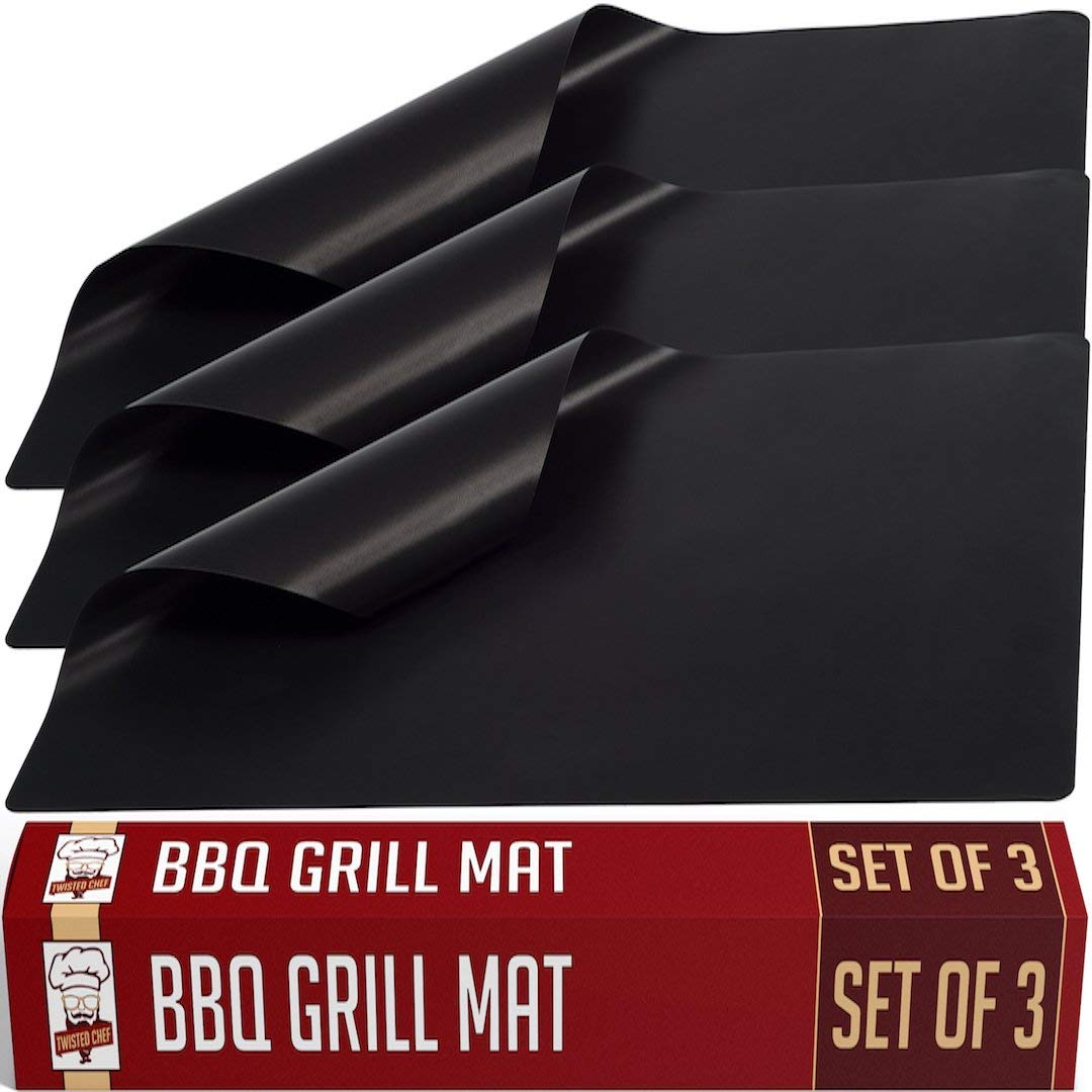 Twisted chef bbq grill mat