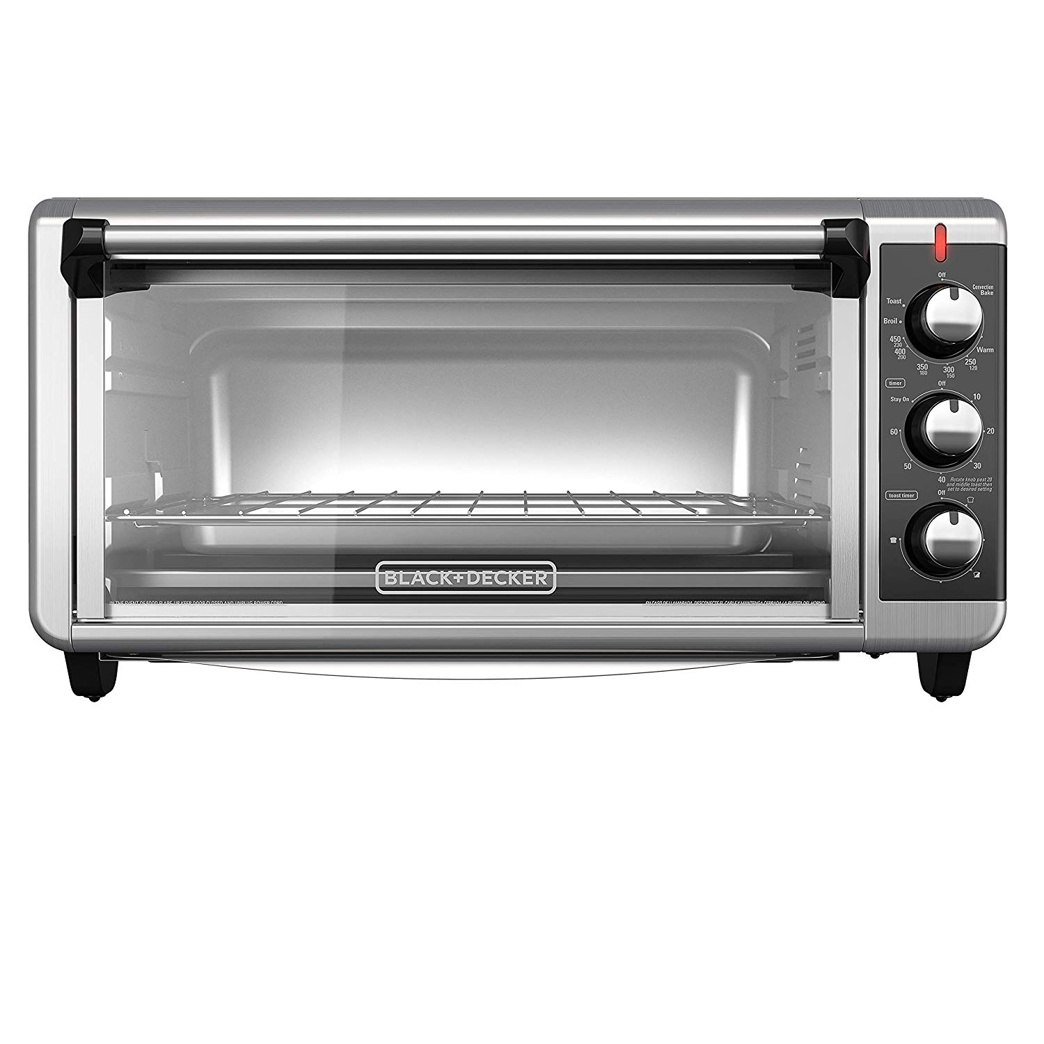 Black + decker to3240xsbd convection countertop toaster oven