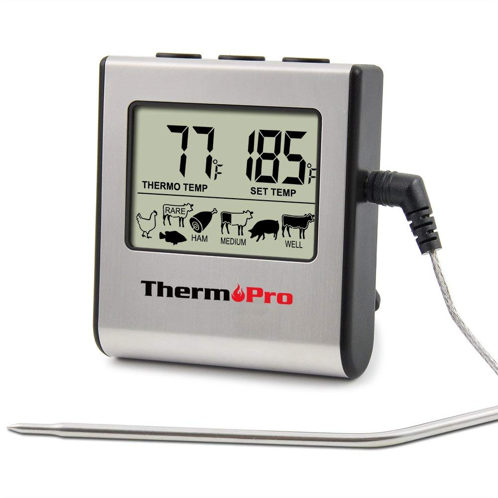 Thermopro tp-16 large lcd digital cooking food meat thermometer