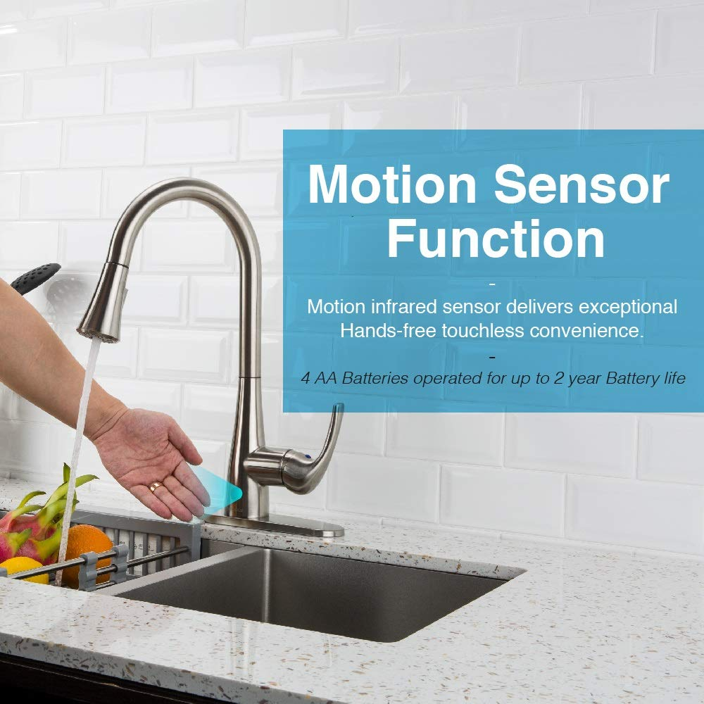 Forious touchless kitchen sink faucet