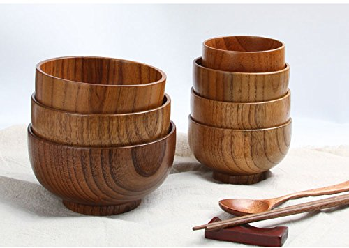 Cospring solid wood bowl