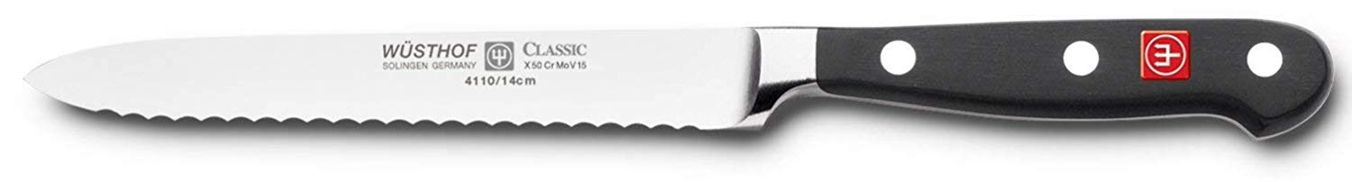 Wüsthof classic 4110 serrated utility knife