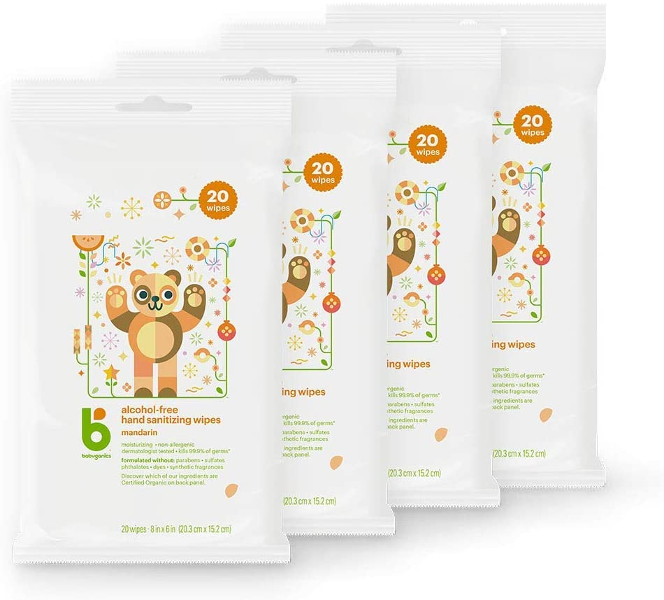 Babyganics hand sanitizing wipes (alcohol-free)