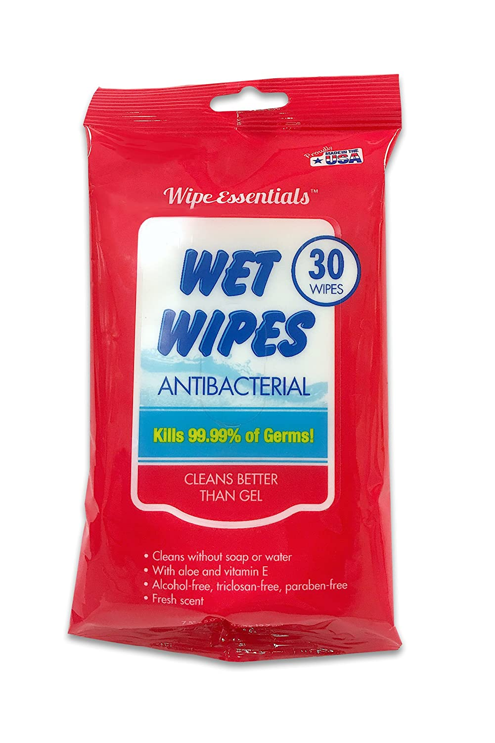 Wipessentials antibacterial wet hand wipes