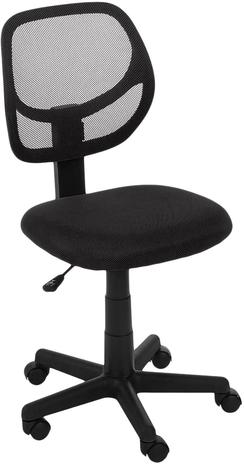 Amazonbasics low-back computer task/desk chair with swivel casters