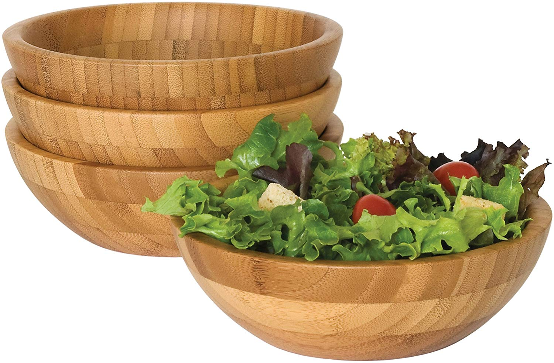Lipper international 8203-4 small bamboo bowls