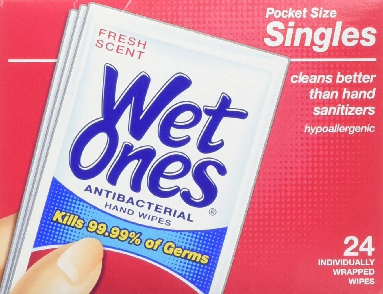 Wet ones hand and face wipes